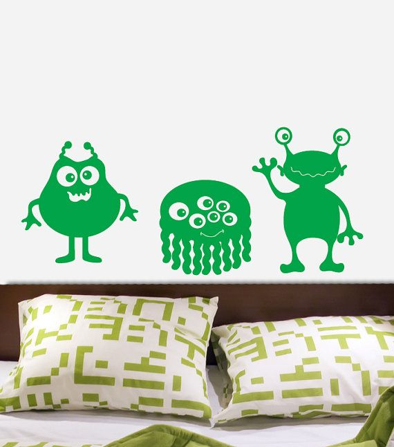 ALIENS cute ET Monsters Custom Vinyl Wall Decal by decomodwalls, $16.00