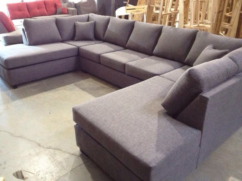 Double Chaise U-Shape Sectional - $1500. 84 inches by 144 inches by 84 : sectional sofas prices - Sectionals, Sofas & Couches