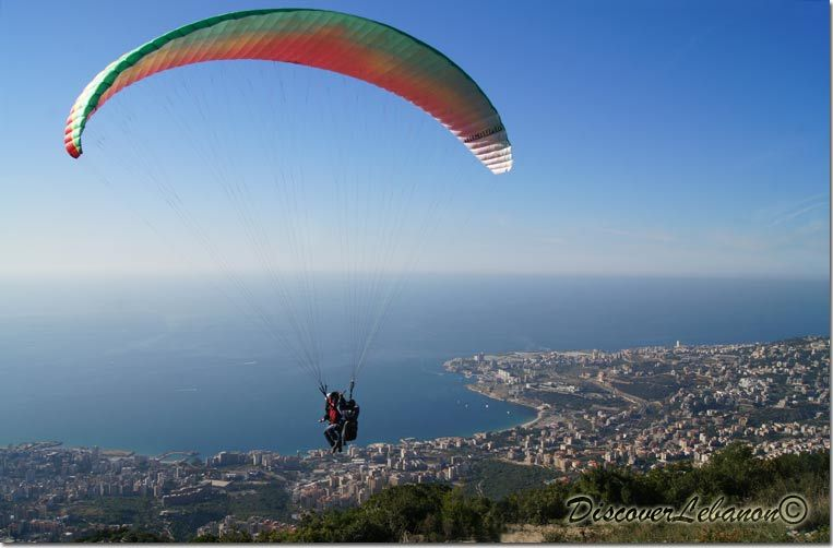 Paragliding activities in Jounieh Lebanon with Raja Saade