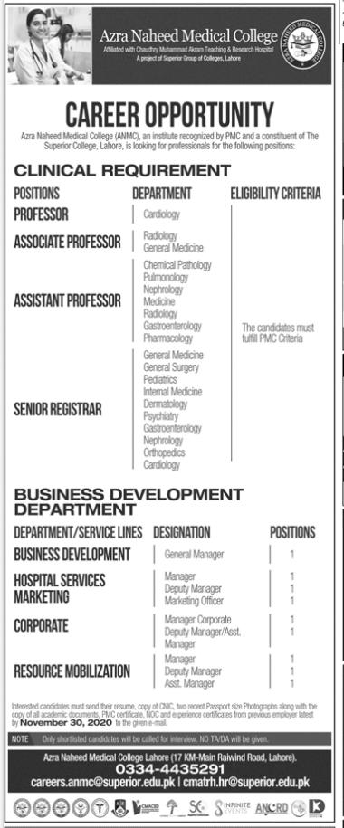 Jobs Advertisement Medical College College Job Teaching Jobs