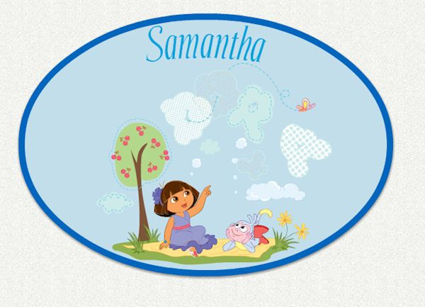 Dora The Explorer Custom Sunny Day Wall Decal   Wall Sticker Outlet
