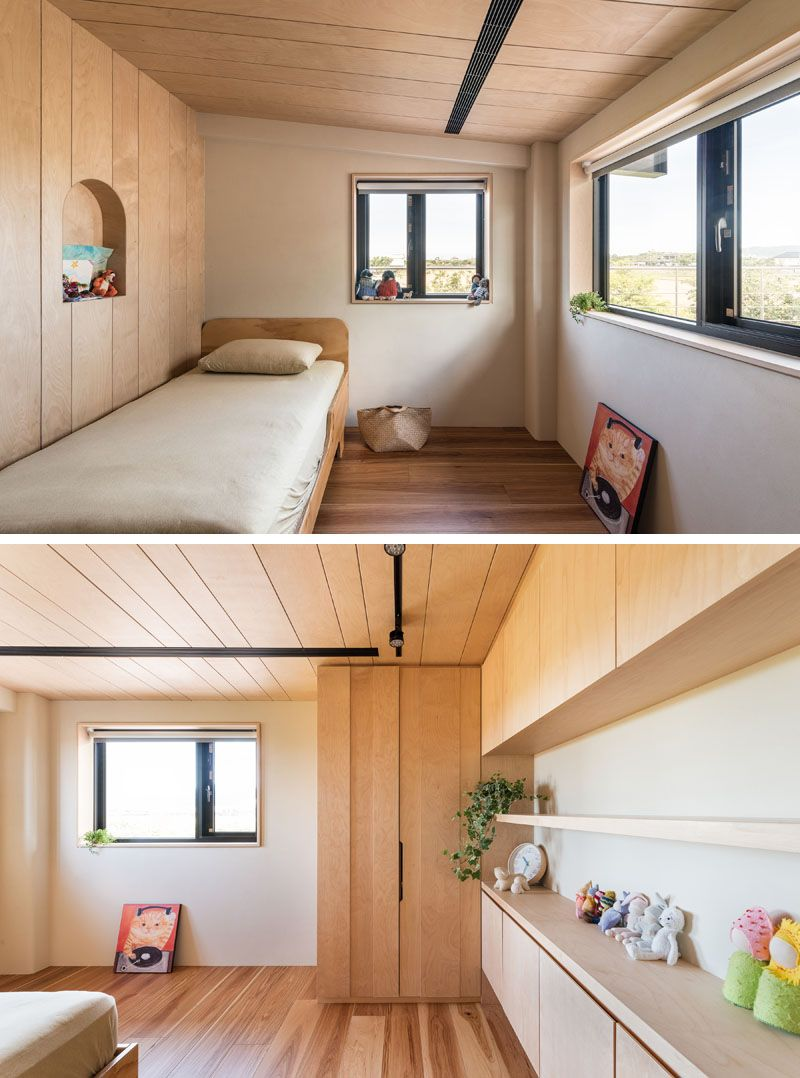 This New Home Creatively Uses Wood To Add A Natural Touch To Its Interior Home Home Interior Design Bedroom Design