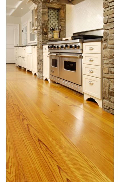 25 Stone Flooring Ideas With Pros And Cons: HEART-PINE Floors Have A Natural, Reddish-gold Tone And