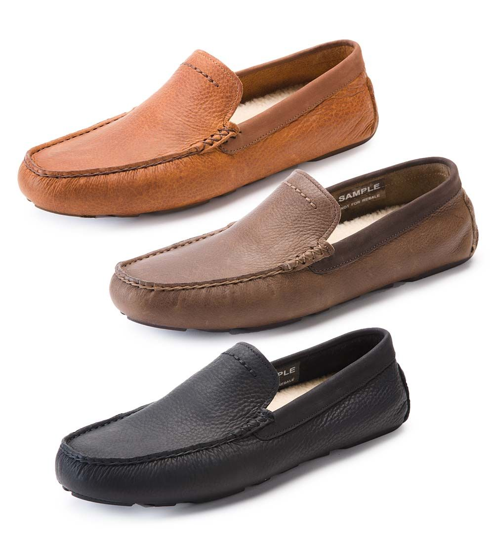Mens Claasic Loafers Shoes - Soft Sole Fashion Driving Shoes (Black & Brown)
