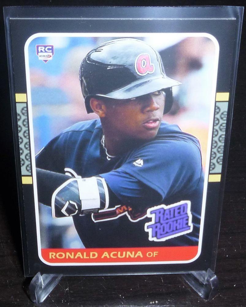 Ronald Acuna Jr Aceo Rp Oddball Card 87 Donruss Designed Rookie