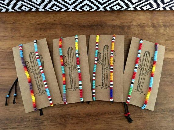 Tribal seed bead bracelet, southwestern bracelet, beaded stack bracelets, boho festival stacking bracelet, Native American style jewelry