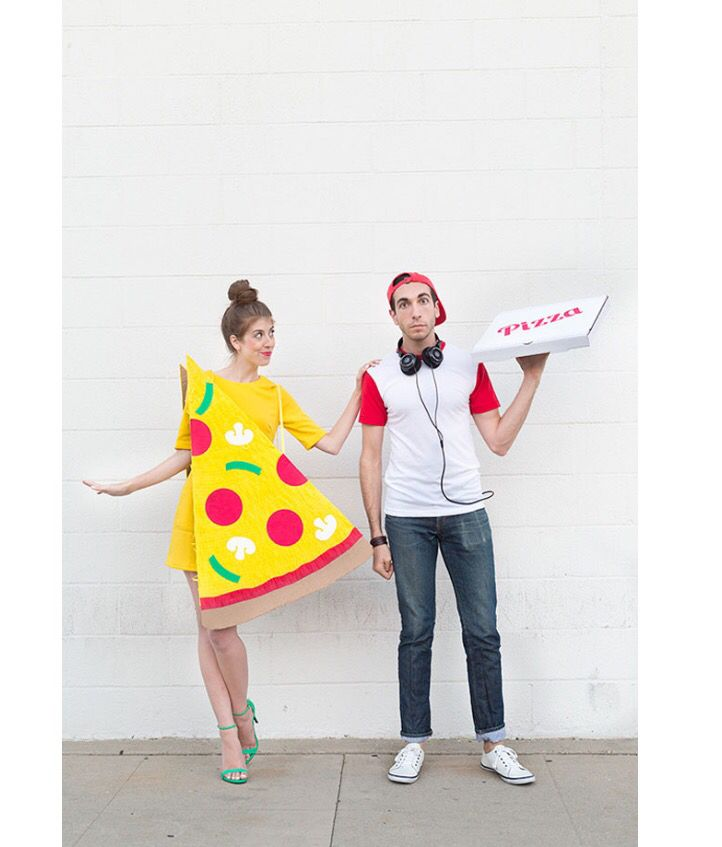 61 Genius Couples Costumes for Halloween 2016  sc 1 st  Pinterest & Pizza and pizza delivery boy | Costumes | Pinterest | Pizza delivery