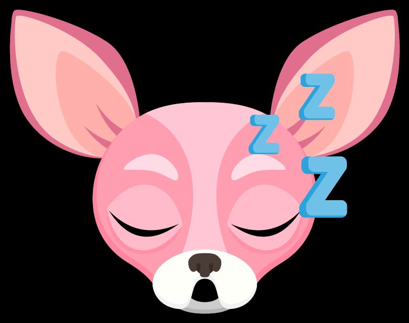 Pink Valentine's Chihuahua Emoji Stickers chihuahua