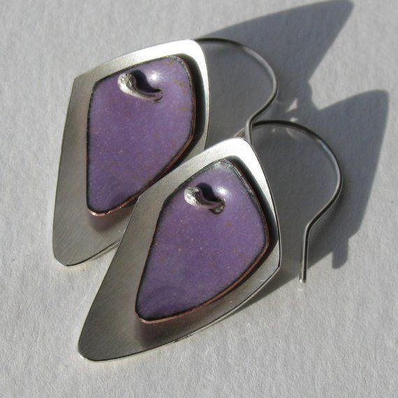 Purple Flame Earrings by ChelseaEBird on Etsy, $56.00