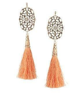 ASOS Filigree Tassel  Earrings