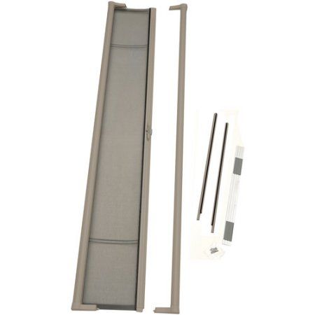 Odl Brisa Tall Retractable Screen For 96 In Swing Or Out Swing Doors Sandstone Italianinteriordesign Retractable Screen Door Italian Interior Design Retractable Door
