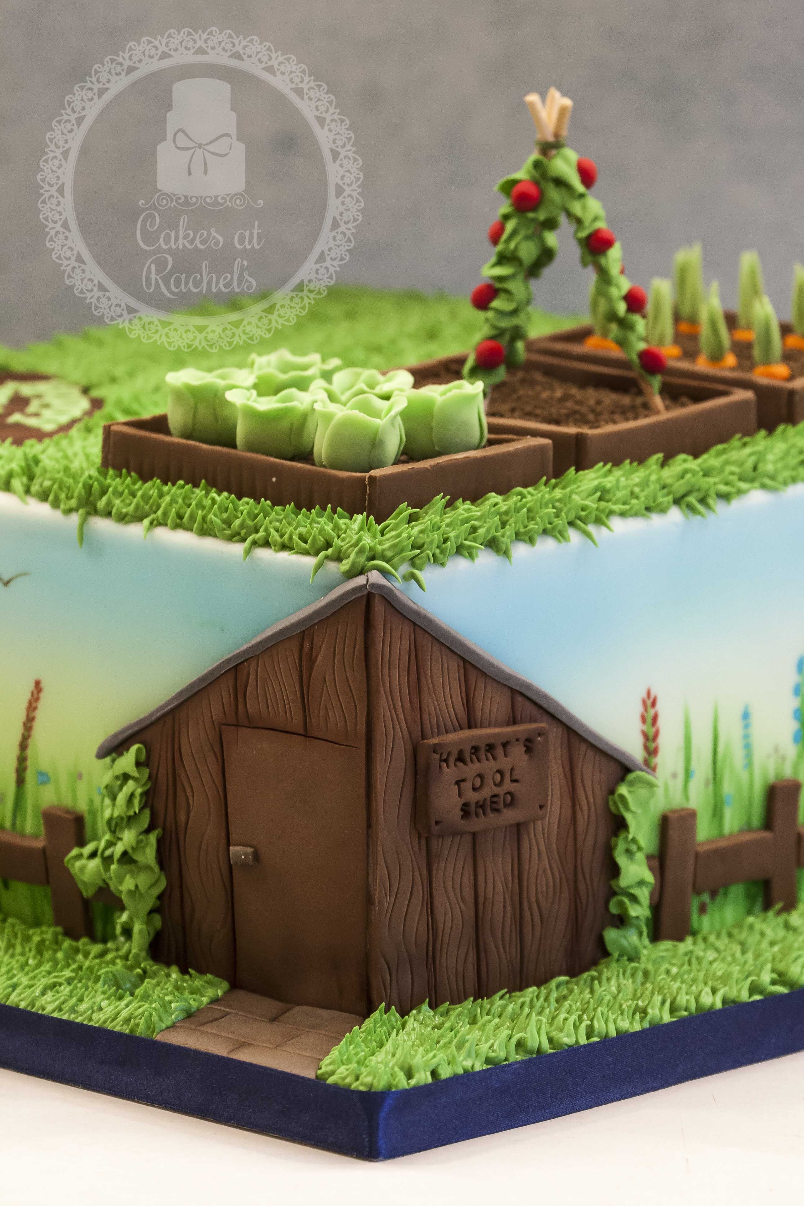 Garden Themed Cake For An 80th Birthday Follow Me At Www