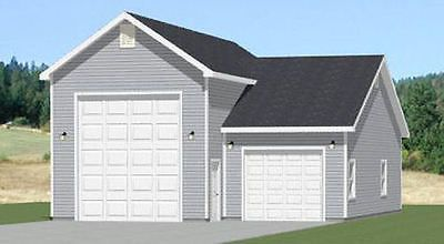 32x40 1 RV 1 Car Garage PDF Floor Plan 1197 sq ft Model 2A – 32X40 Garage Plans