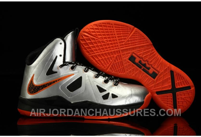 Nike Zoom Lebron 10 X Silver Orange TopDeals