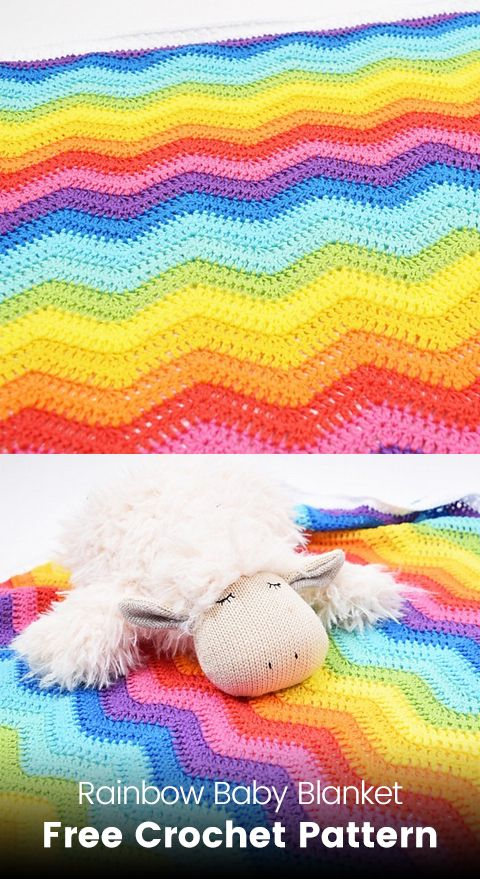 Rainbow Baby Blanket Free Crochet Pattern | Maggie\'s Crochet - All ...