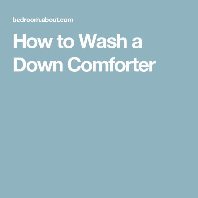 Washing Or Drying A Down Duvet Or Comforter Bedding
