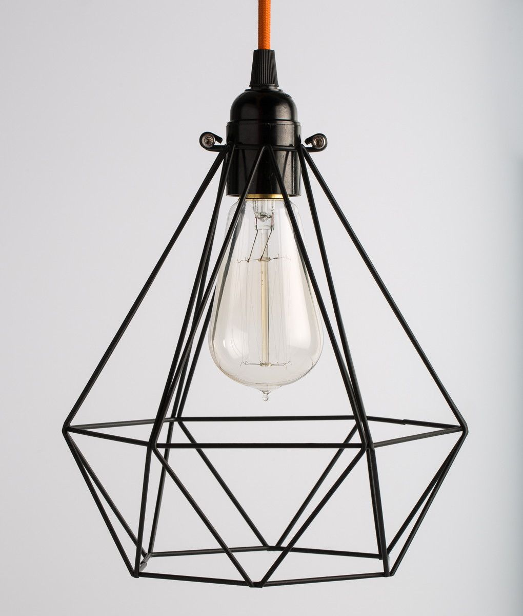 This Black Diamond Cage Light Shade Is Quite Architectural In Feel