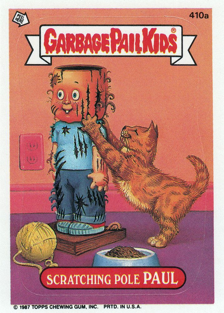 Garbage Pail Kids Series 10 410a Scratching Pole Paul Garbage Pail Kids Kids Series Garbage Pail Kids Cards