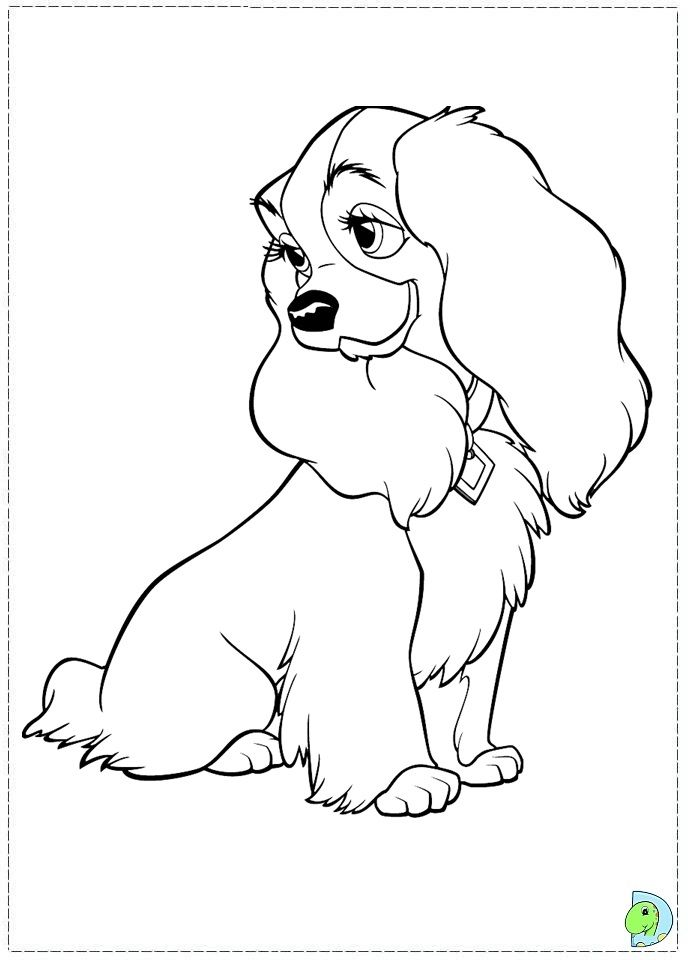 Coloriage La Belle Et Le Clochard Dessins Disney Coloriage Dessin Coloriage