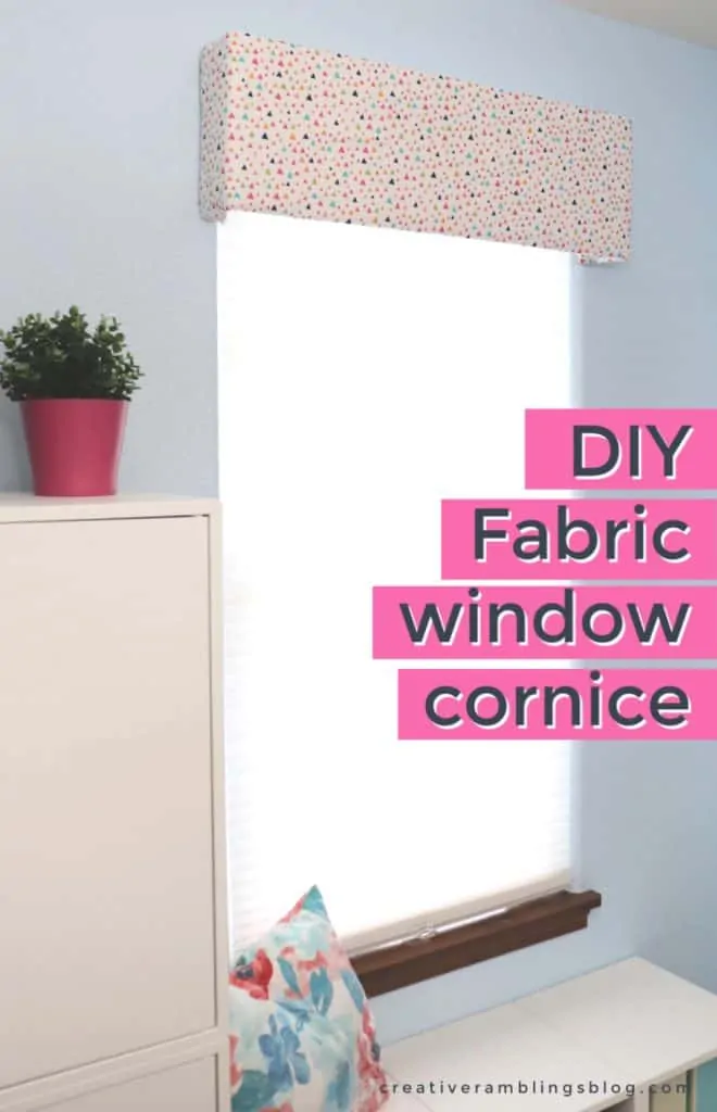 How to Make a Fabric Covered Window Cornice in 2020 ...