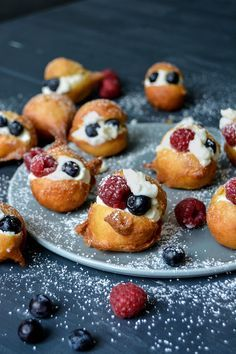 Maltese Zeppoli – Fried Cream Puffs with Vanilla Ricotta and Fresh Berries