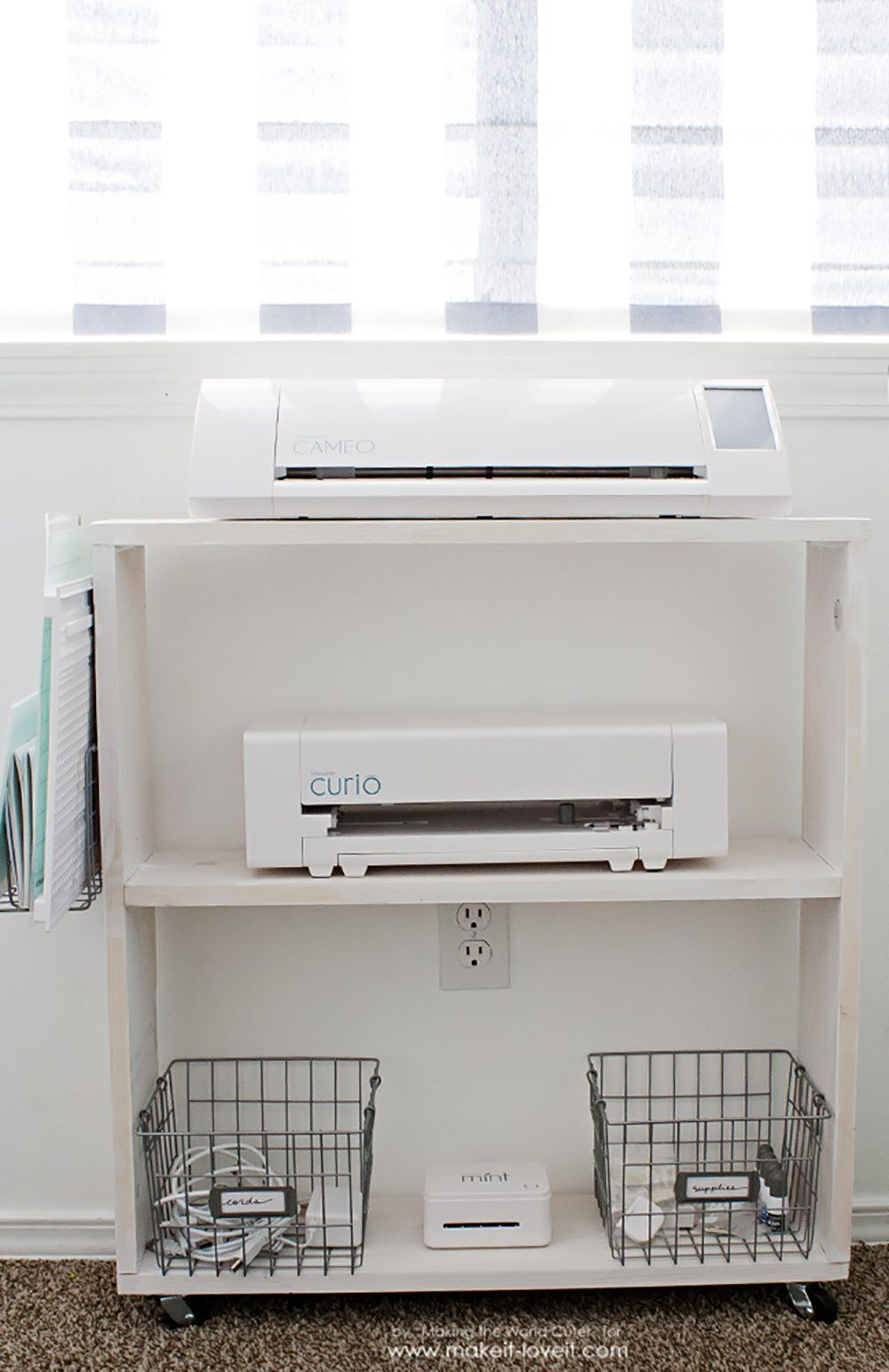 Easy Diy Craft Cart Perfect Silhouette Storage Best Of Pinterest