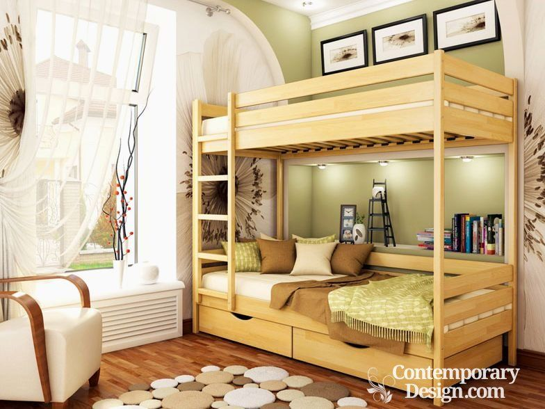 Wood Double Decker Designs House Frame Bed Kid Beds House Beds