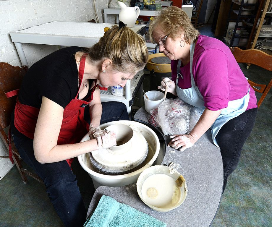 Out of Hand Pottery at Whiting Mills in Winsted, #Connectiicut