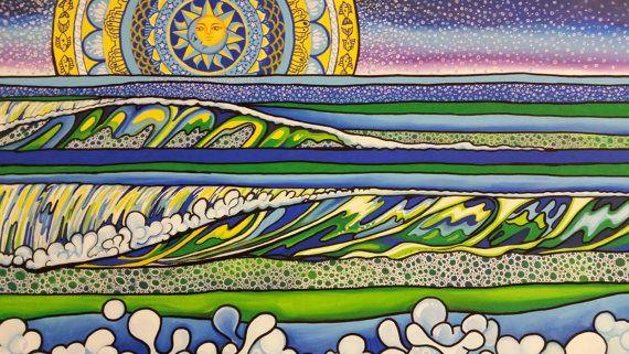 Celestial Seas Original Painting by MelissaHoodPaintings on Etsy