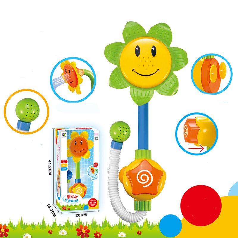 Kids Children Baby Bath Toy Sunflower Shower Faucet Bath Water Play ...