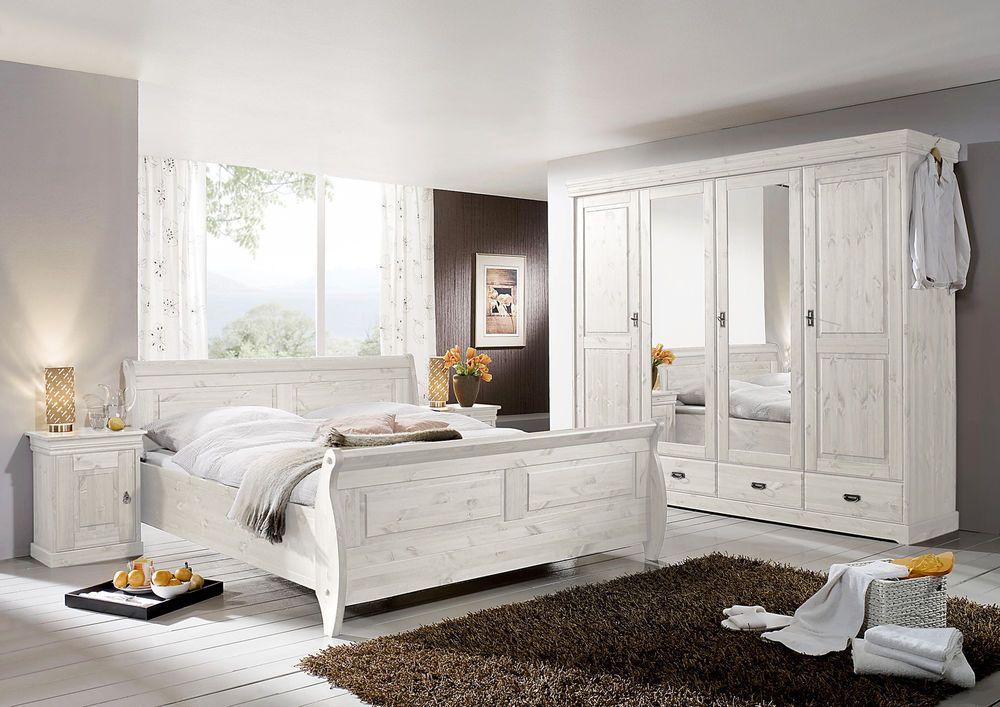 schlafzimmer landhausstil weiß | pisa | massivholz romantik | tp24 ... - Landhaus Schlafzimmer Komplett