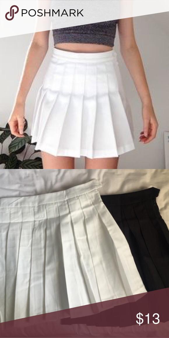 New White Tennis Skirt New Not Brandy Brandy Melville Skirts White Tennis Skirt American Apparel Skirt Tennis Skirt