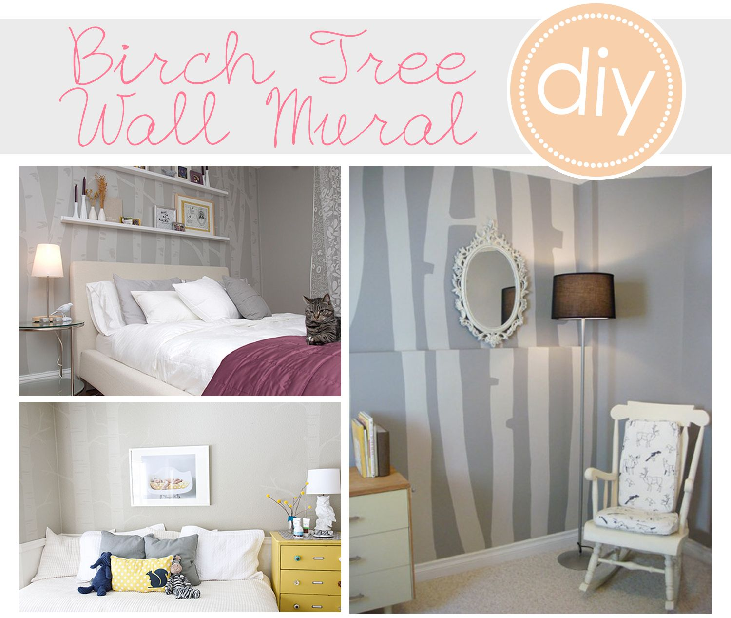 Three Different Ideas For A Birch Tree Wall Mural. Personally, I Like The  Softest Of The Three The Best. Maybe For The Bedroom Or Even A Little Girls  ...
