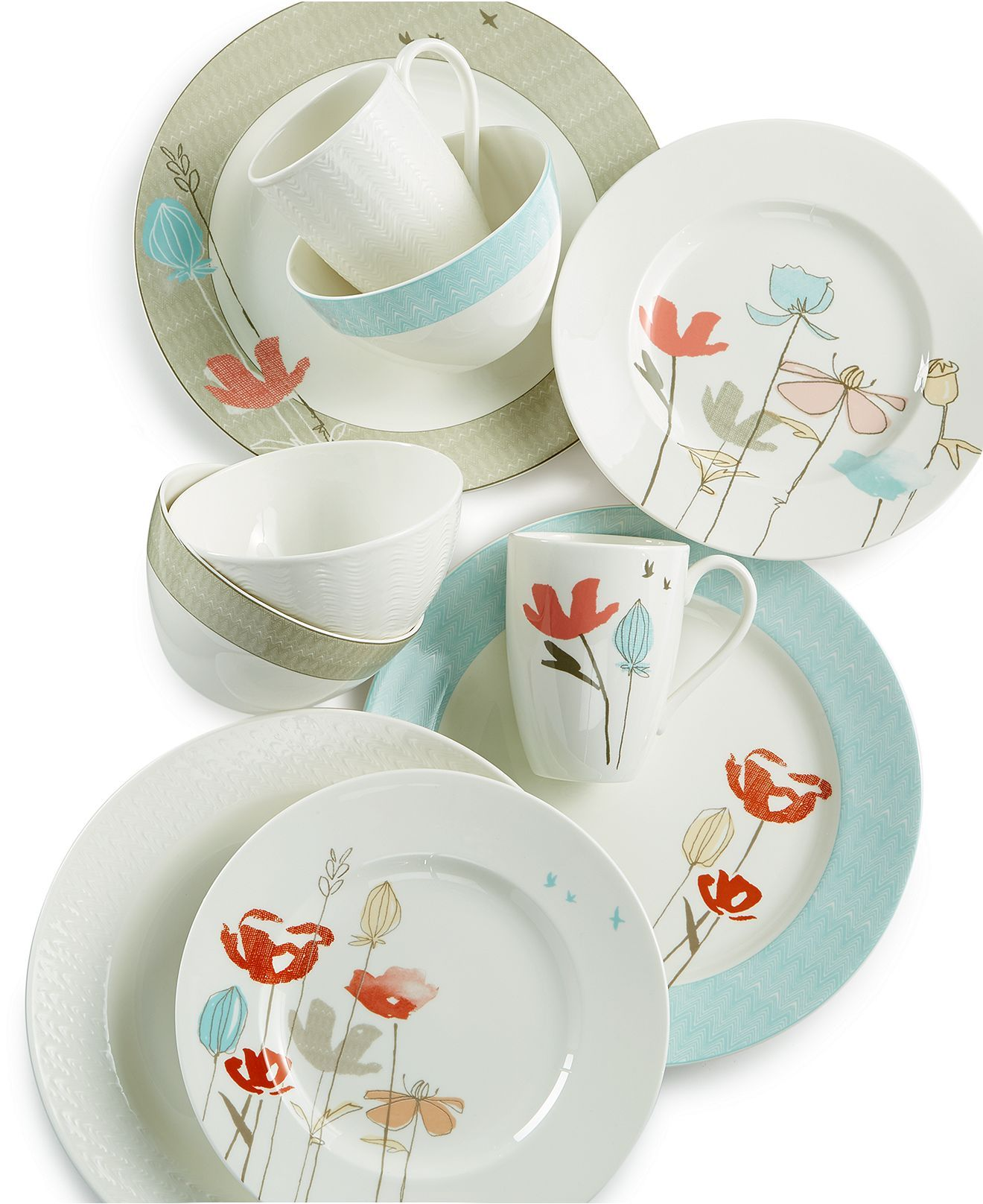 Lenox Poppy and Ridge Street Mix and Match Collection - Casual Dinnerware - Dining u0026 Entertaining  sc 1 st  Pinterest & Lenox Poppy and Ridge Street Mix and Match Collection - Casual ...