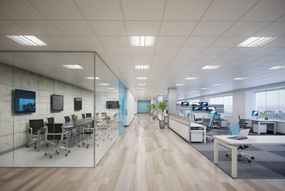 Lighting Fixtures In Open Office