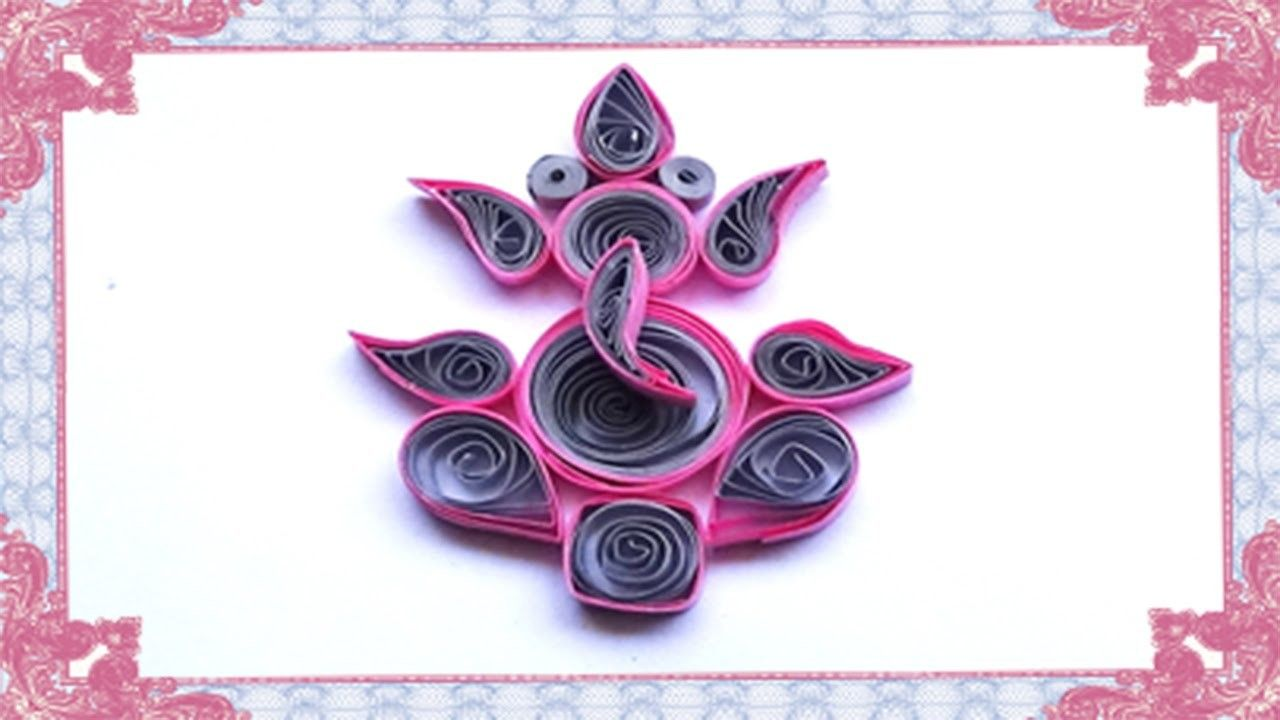 Paper Quilling How To Make Lord Ganesha Paper Quilling Ganesha