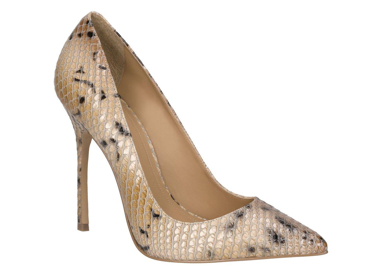 Bezowo Brazowe Czolenka 25589 16273 08 27 Z Kolekcji 2015 Sklep Internetowy Kazar Heels Shoes Peep Toe
