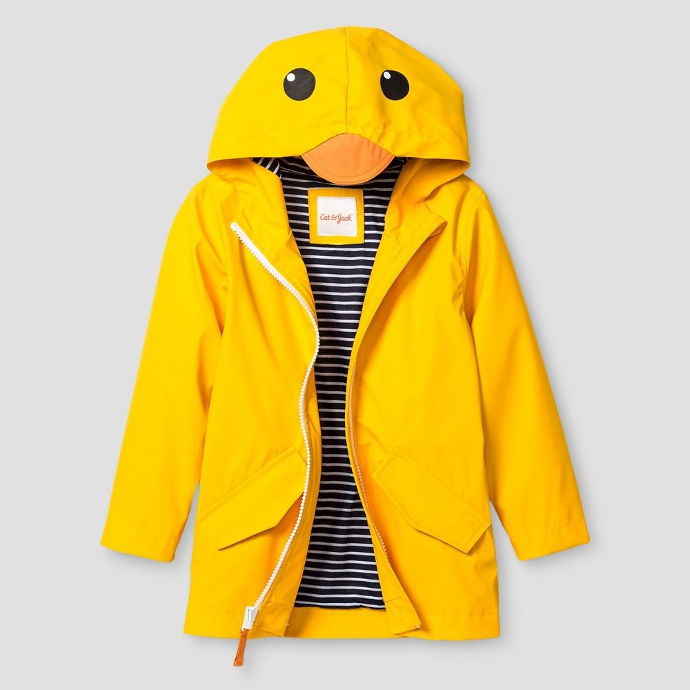 82bb0806a Toddler Duck Hooded Raincoat Cat   Jack - Yellow 5T
