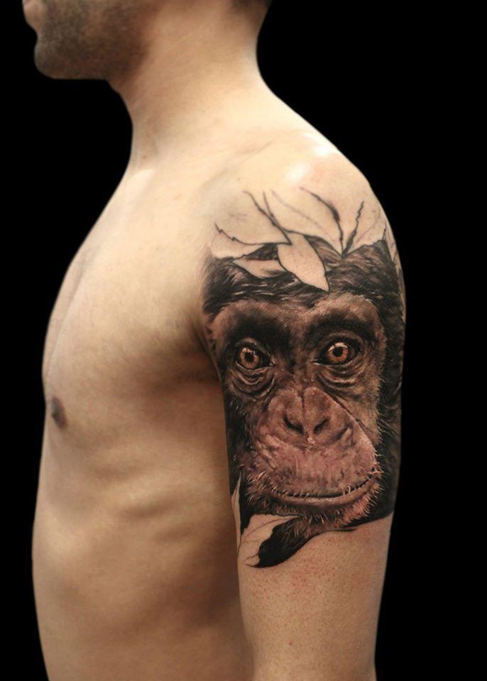 b552d0a08 Chimpanzee Tattoo | tattoos | Tattoos, Piercings, Tattoo blog