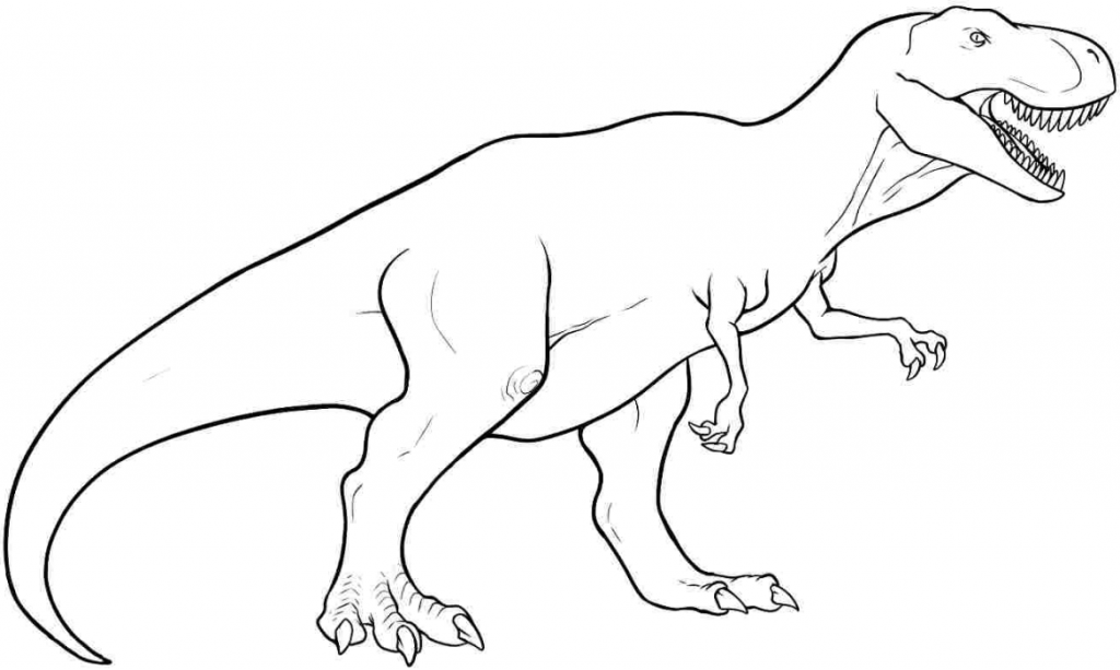 Trex Coloring Pages Dinozorlar Ve Cizim