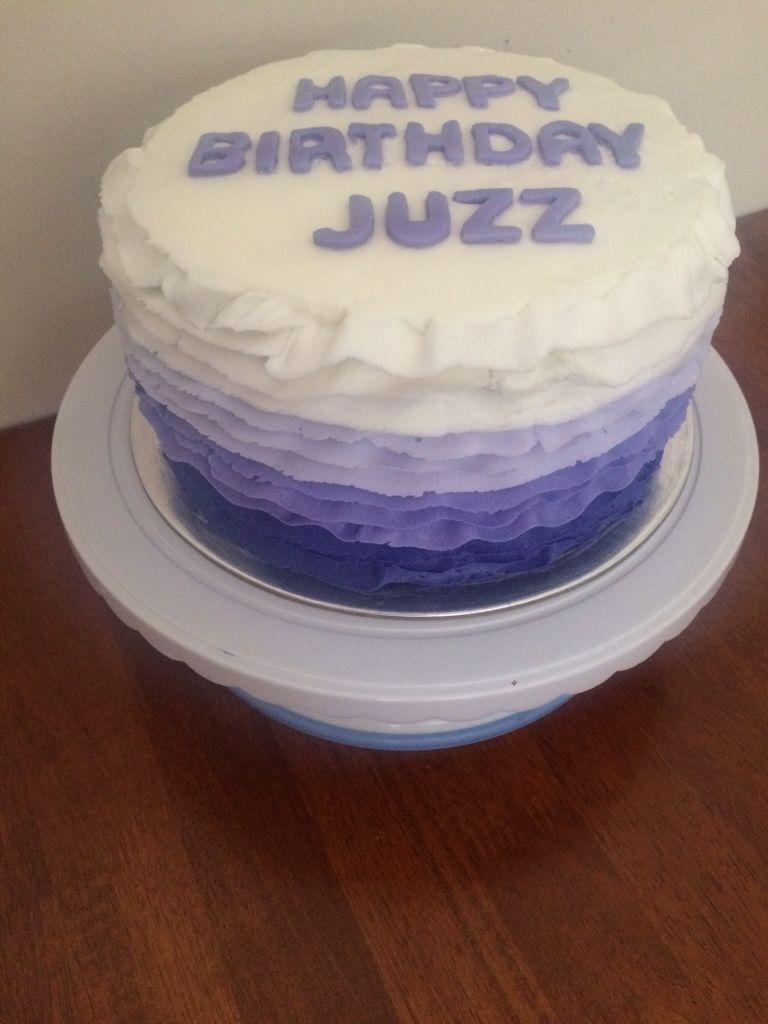 My 23rd birthday cake 🎁🎈 First attempt at buttercream ruffles ...