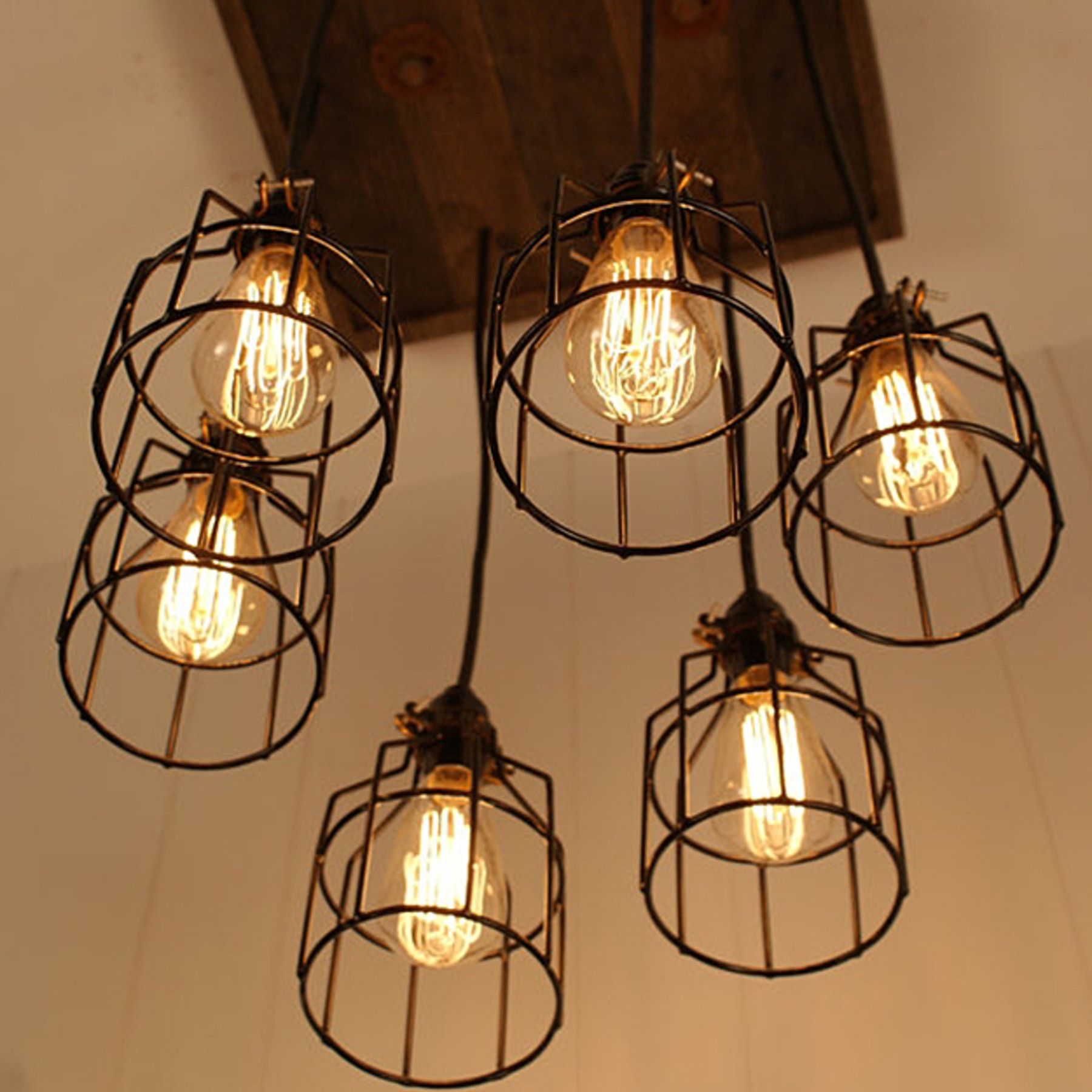 14 Light Diy Mason Jar Chandelier Rustic Cedar Rustic Wood: Handmade Cage Light Chandelier