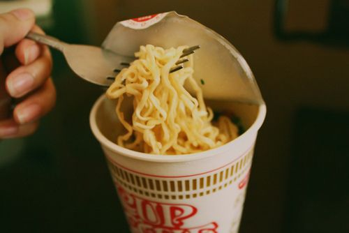Dad got mad whenever he saw me eat this!   He always said it's garbage! I still crave them once in a while