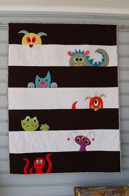 M is for Monster by pipersquilts, via Flickr
