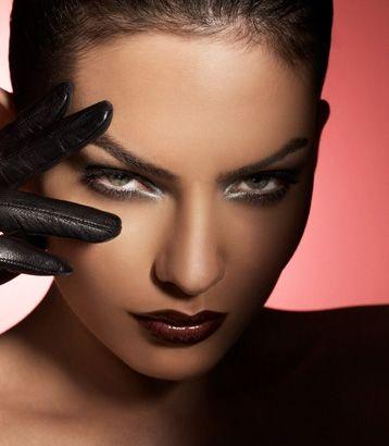 Closeup eye with beautiful sinfully bold makeup