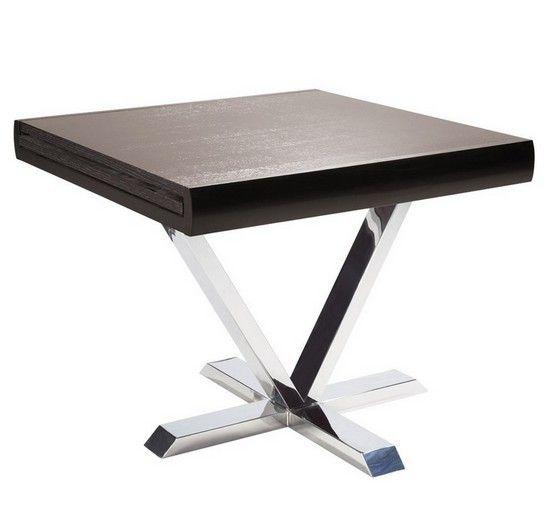 Achetez Sans Plus Attendre Cette Table Extensible Halfy Bois Wenge Au Meilleur Prix Table Extensible Table Repas Salle A Manger Wenge