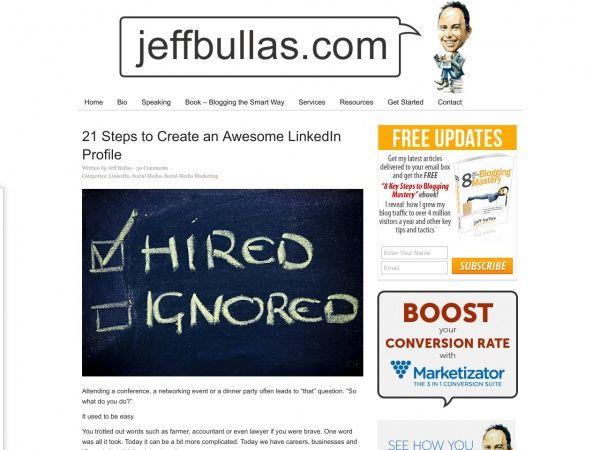 JeffbullasS Blog  Job    Profile Create And Essentials