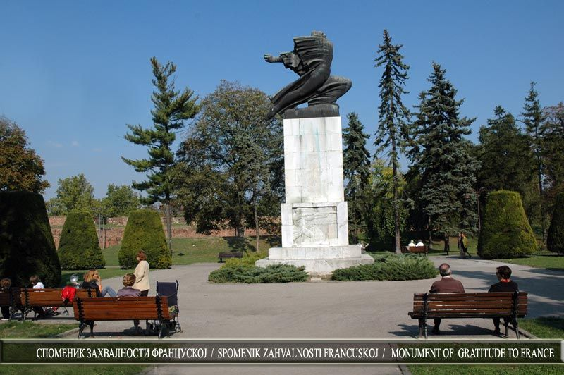 Spomenik Zahvalnosti Francuskoj 3 Belgrade Fortress Serbia