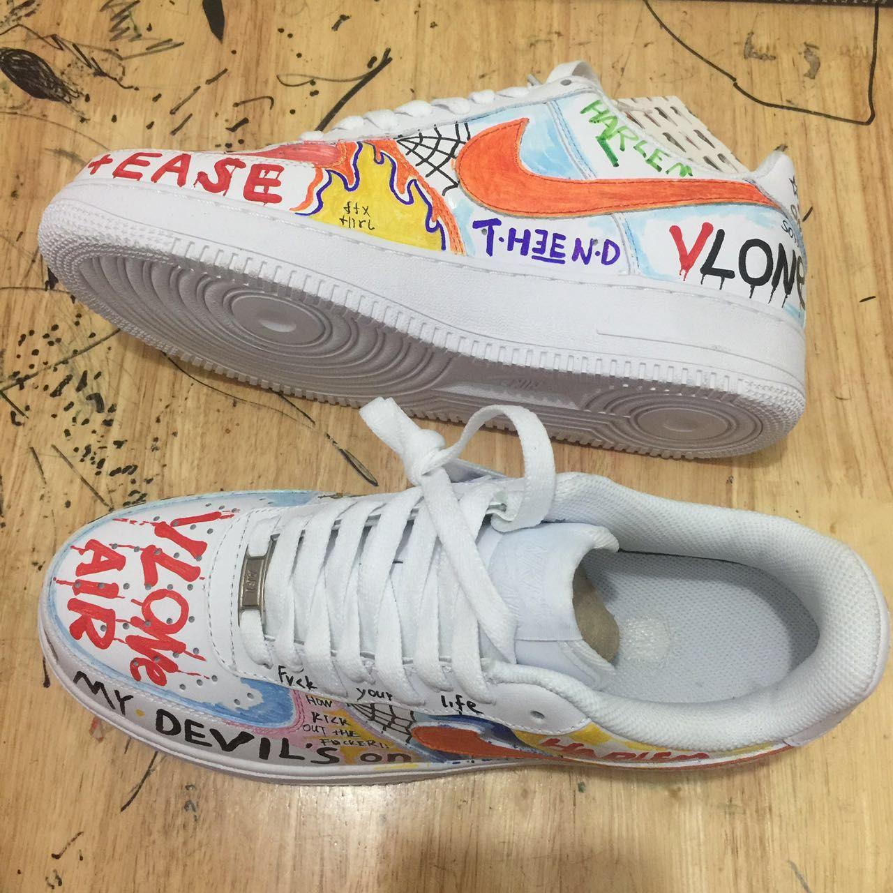Risultati immagini per vlone custom sneakers
