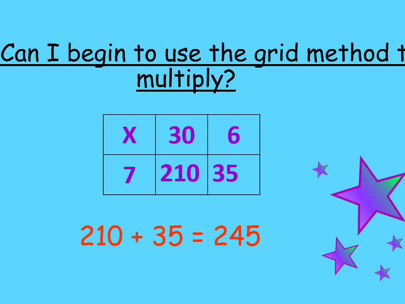 Grid Lesson For Multiplication Pp Lesson Plan And Worksheets